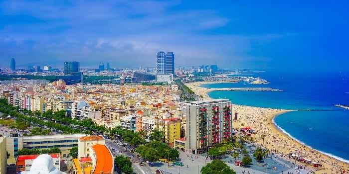 Barcelona vom oben Fotografiert