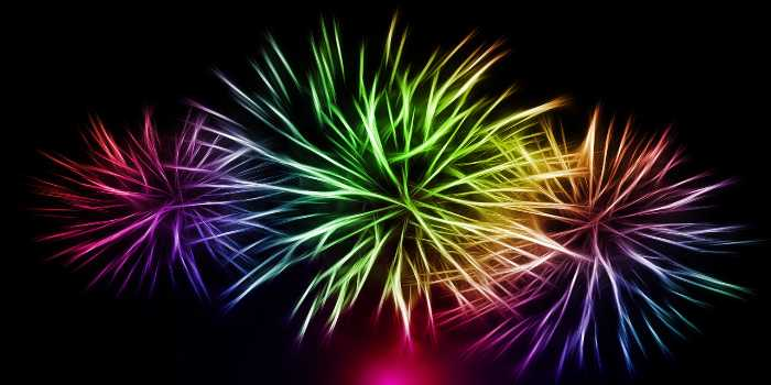 mehrferbiges Feuerwerk