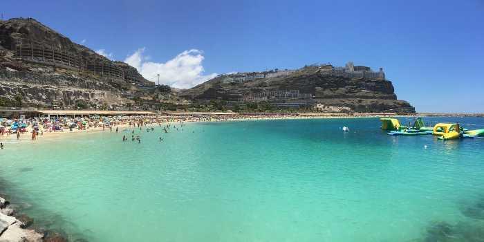 Bild vom Sandstrand Playa de Amadores