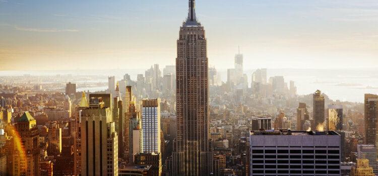 Modern und teuer die Weltstadt New York